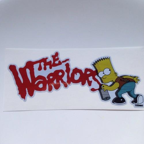 Bart the warriors sticker
