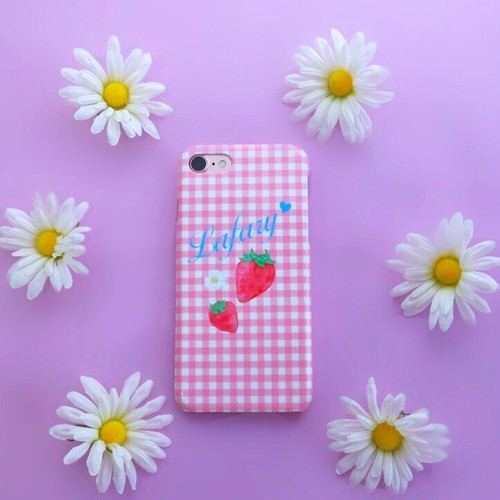 Strawberry iPhoneケース(ピンク)
