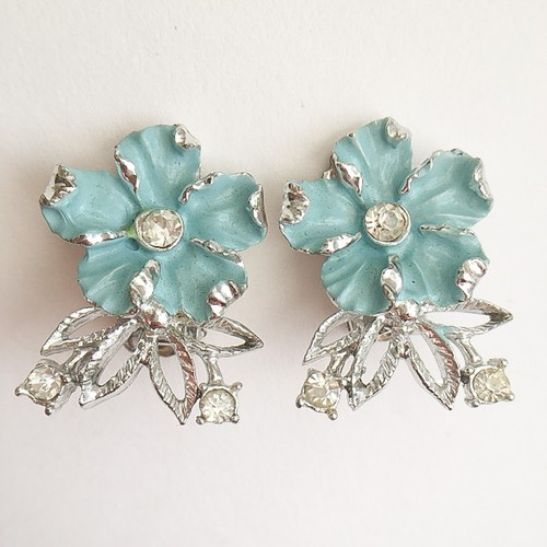 blue flower earring[e-801]