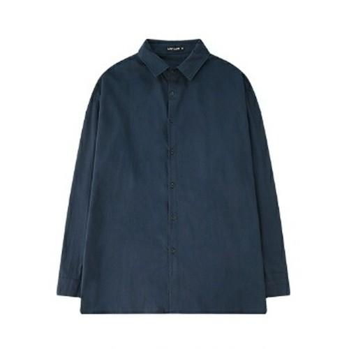 送料無料ユニセックス/ネイビー/ベージュ/シンプル/長袖シャツ