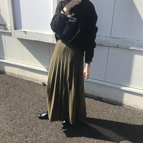 Honey Drop ニットプリーツスカート(S)