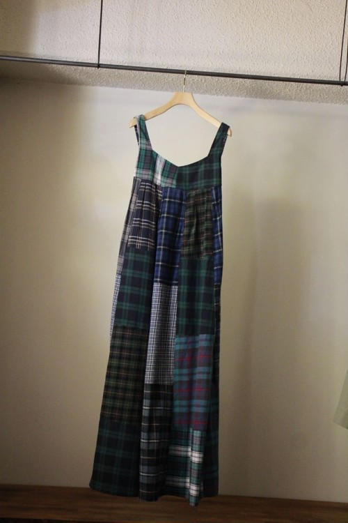 MALION VINTAGE マリオンビンテージ back open patchwork dress A type
