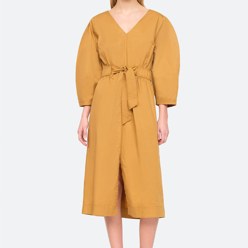 SEA NY  GABRIETTE TIE DRESS  HONEY DRESS