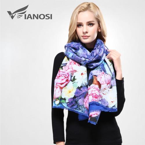 [VIANOSI]豪華な冬のスカーフ女性デジタルプリント女性ブランドソフトウールカシミヤソフトショールとスカーフ女性VA068 VIO0466929