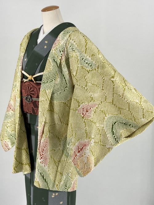 羽織 和装コート 着物用コート 中古 送料無料 仕立て上がり リサイクル着物 きもの 着物 カジュアル着物 裄65.5cm