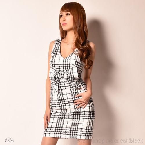 SALE (Sサイズ) ミニドレスかわいいフロントリボン ¥5,713- (税込) キャバドレス ドレス パーティー 5165