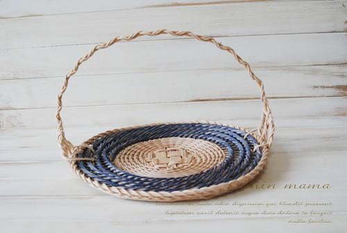プレート巻き込み6本縄編み