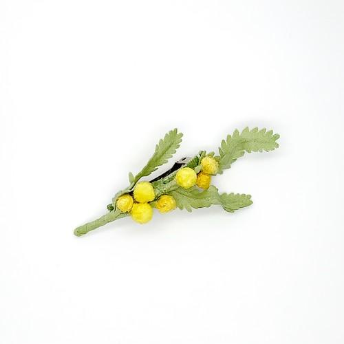 Arpeggio ミモザ バレッタ 薄緑