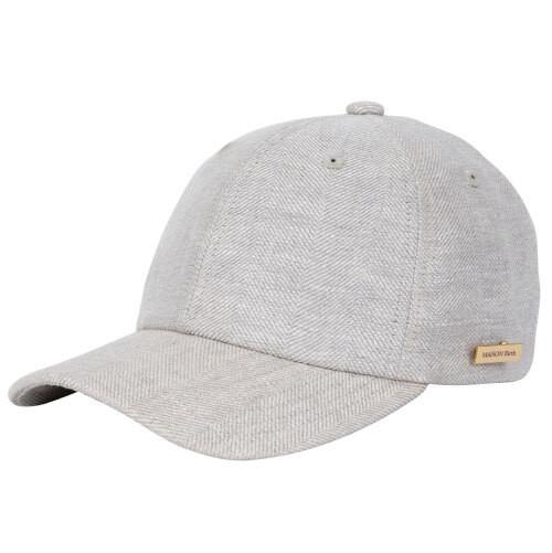 MB-20107 LINEN HERRINGBONE CAP