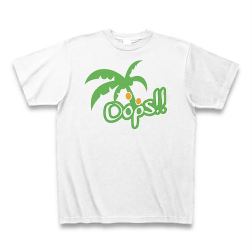 送料無料 ハワイでびっくり椰子の木(Oops)オリジナル メンズTシャツ