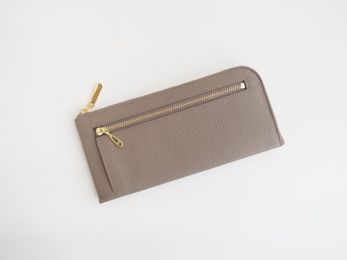 薄くて軽くて大容量なL字長財布 14枚カードポケット 牛革 シュリンクトープ 日本製【Squeeze スクイーズ】