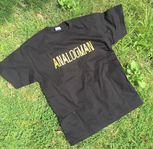 アナログマンTシャツ2016 ブラック イエロー