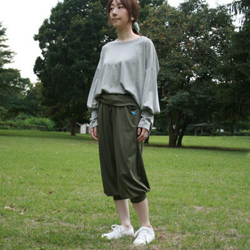 CSPN-146 オーガニックコットンyoga wear +(プラス) リラックス7分パンツ
