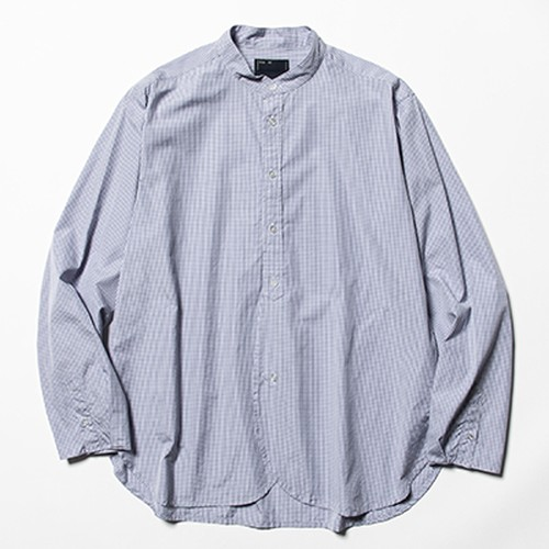 meanswhile  Imperial Poplin SH Navy Check