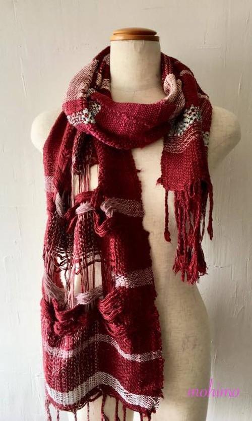 手織りストール シルク Si-007