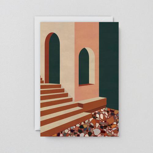 WRAP / TERRACOTTA TERRAZZO ART CARD -Artwork by Charlotte Taylor- アートカード