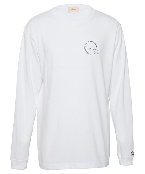 ONE POINT MESSAGE PRINT LONG SLEEVE[REC436]