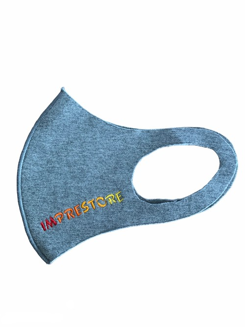 Logo face guard / gray