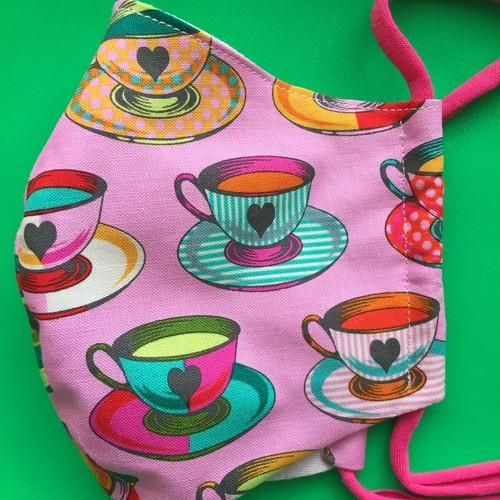 レディースファッションマスク 怪しいお茶   ピンク