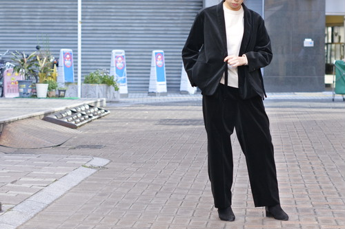 【Phlannèl】Cotton Velveteen Masculine Trousers(Women's)