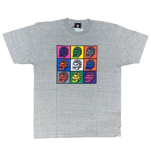 RUGBY SKULL COLORFUL T-shirts Gray