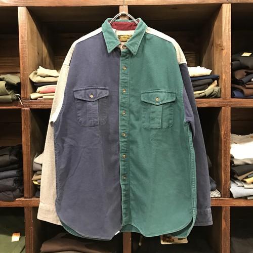 80s Eddie Bauer エディーバウアー フランネルシャツ クレイジーパターン