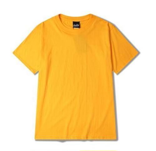 5枚セットメンズシンプル半袖Tシャツ。コットン素材ユニセックスOKイエロー/ベージュなど7色あり