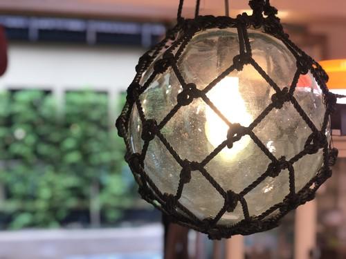 ガラスの浮き玉 ペンダントライト