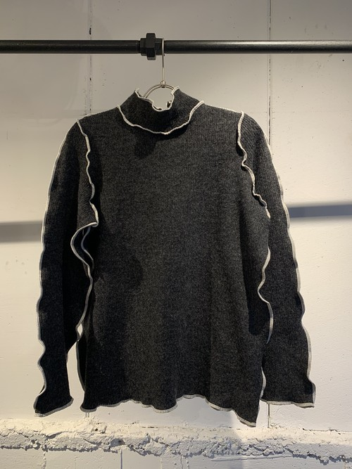 &her   Tutle Knit Top/Chacoalgray