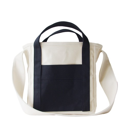 ZUCC SHOULDER TOTE BAG (キナリ×ブラック)