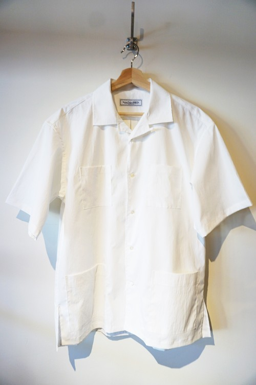 OPEN COLLER SHIRT [ WHITE ]