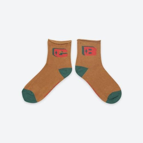《BOBO CHOSES 2021SS》B.C Brown Short socks