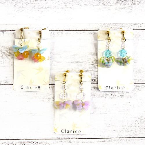 【Claricë】折り紙蝶々のイヤリング/イヤリング