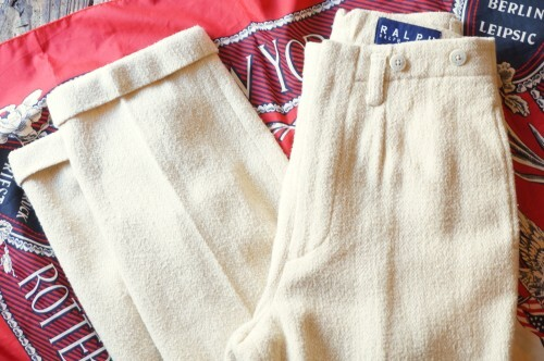 90's Ralph Lauren ivory tweed Slacks