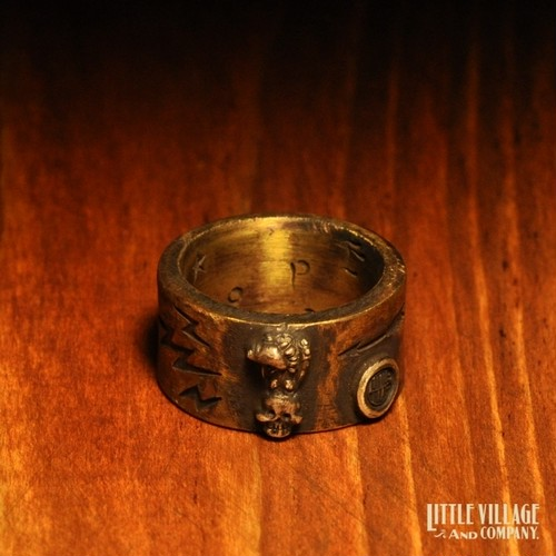 """""""Vulture & Skull"""" Flat Ring"""