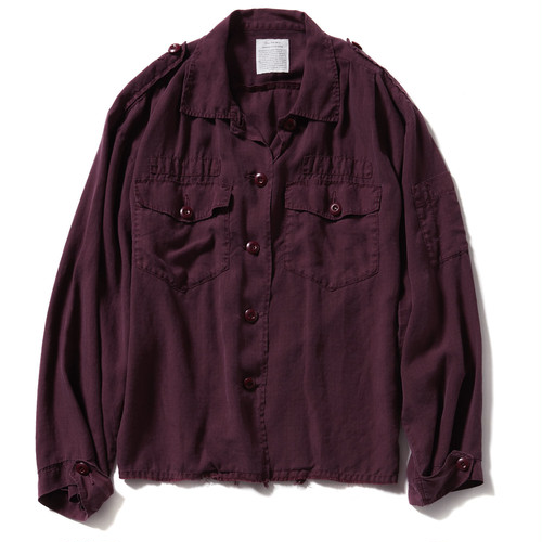 【FILL THE BILL】《WOMENS》RAYON RIP UTILITY JACKET - GARNET