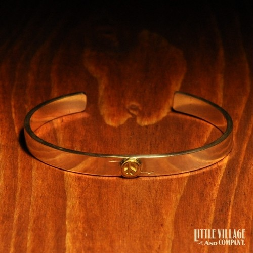 "Small Peace Bangle  ""PEACE"""