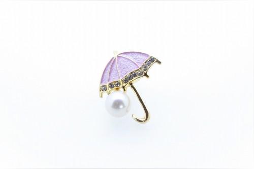 アコヤ真珠 ピンブローチ〈アンブレラ〉ライトピンク