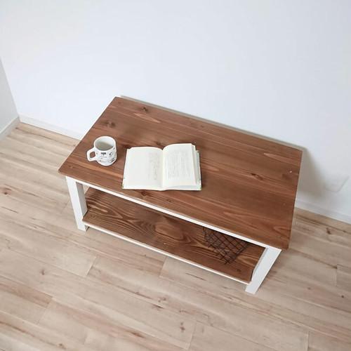 【国産 無垢 蜜蝋WAX 】CafeTable / カフェテーブル / リビングテーブル