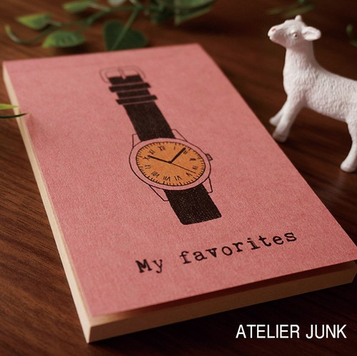 クラフト紙のお洒落なメモ帳【時計】