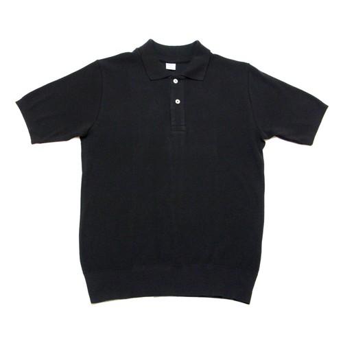 【gicipi】 イタリア製 コットン ニット ポロシャツ (Polo MM 2007 P) 〈Black〉