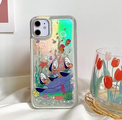 流れる♪ Glitter oysters iphone case