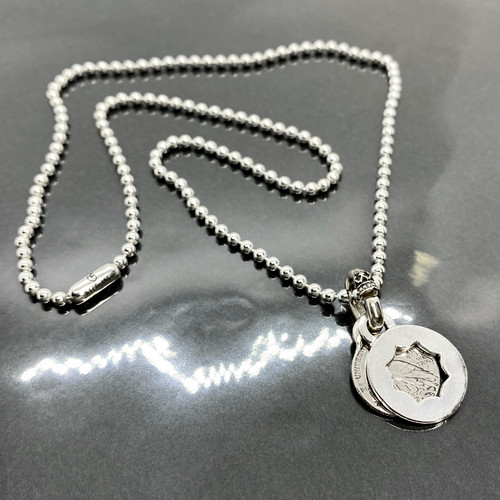 PENDANT [CUT OUT FLOWER with COIN] PLAIN / プレーンフラワープレート&コインペンダント