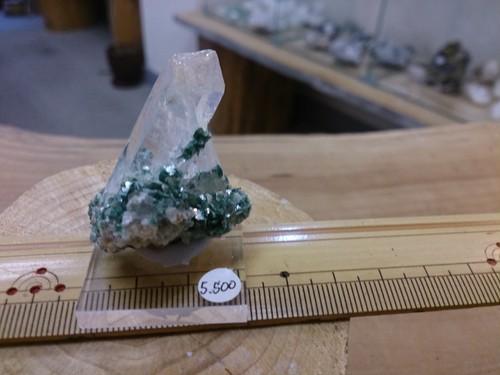 クロム雲母付き水晶   H-046
