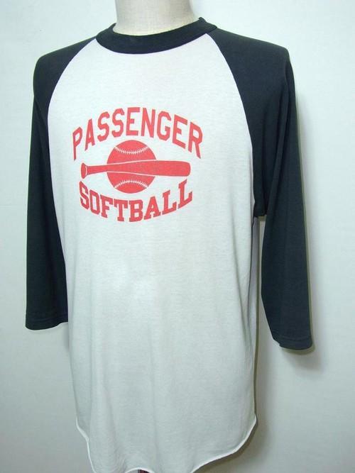 1990's SOFFE SHIRT ラグランTシャツ 白×黒 表記(M)