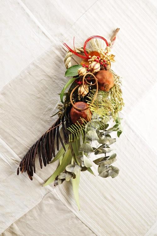 お正月飾り*ザクロとユーカリ