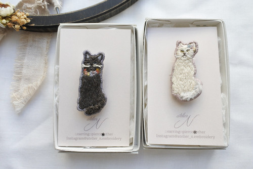 atelier N 「forest animal broach cat」H53,54