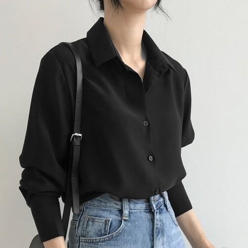 【トップス】シフォン新作韓国風ゆったり着瘦せOL合わせやすいシャツ