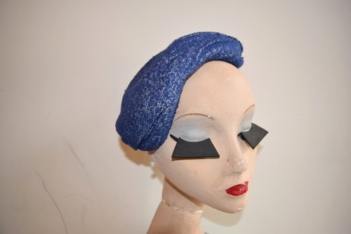 VINTAGE blue design headdress