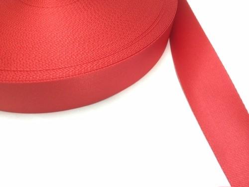 (限定品) ナイロン 朱子織 38㎜ 赤 1m
